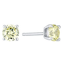 August Sterling Silver Green Cubic Zirconia Stud Earrings - Product number 4552245