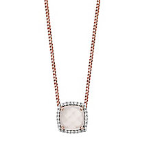 Pink Plated Rhodium Semi Precious Stone Pendant - Product number 4552474