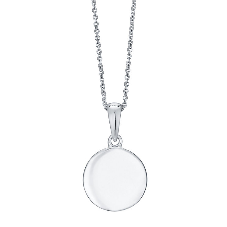 Sterling Silver Engravable Disc Pendant - Product number 4552482