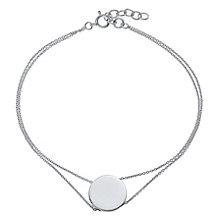 Sterling Silver Engravable disc Bracelet - Product number 4552490