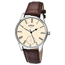 Limit Men's Cream Dial Brown Strap Watch - Product number 4553160