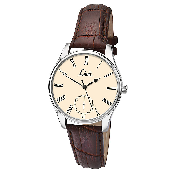 Limit Ladies' Cream Dial Brown Strap Watch - Product number 4553179