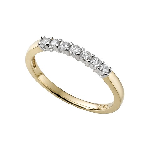 18ct two-colour gold quarter carat diamond ring