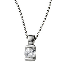 9ct white gold 15 point diamond pendant necklace - Product number 4554639