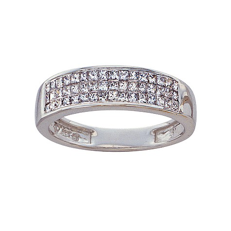 18ct white gold half carat princess cut diamond ring