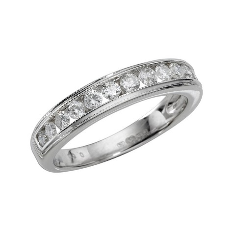 18ct white gold quarter carat diamond half eternity ring