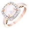 Pink Plated Rhodium Semi Precious Stone Ring - Product number 4562585