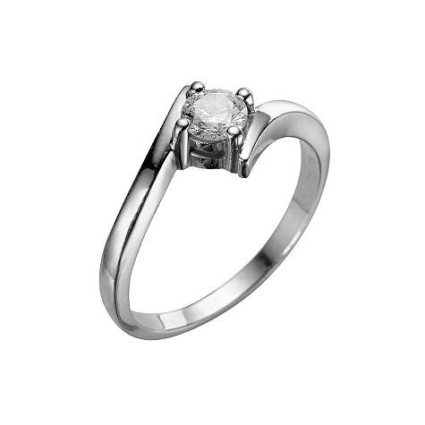 Platinum third carat diamond solitaire ring