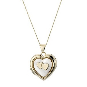 9ct Gold Mother-of-pearl Locket - Product number 4568354