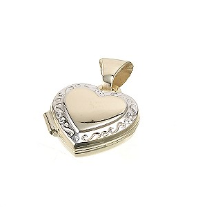 9ct Gold Heart Locket Charm - Product number 4568389