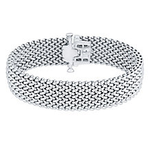 Sterling Silver 17mm Woven Bracelet - Product number 4570316