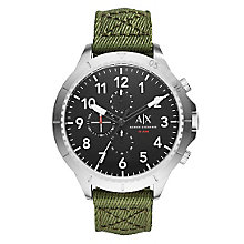Armani Exchange Men's Green Canvas Strap Watch - Product number 4570774