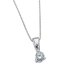 9ct white gold fifth carat diamond pendant - Product number 4571797