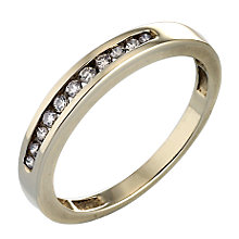 9ct Gold 0.15 Carat Diamond Eternity Ring - Product number 4572009