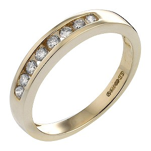 9ct Gold Quarter Carat Diamond Eternity Ring