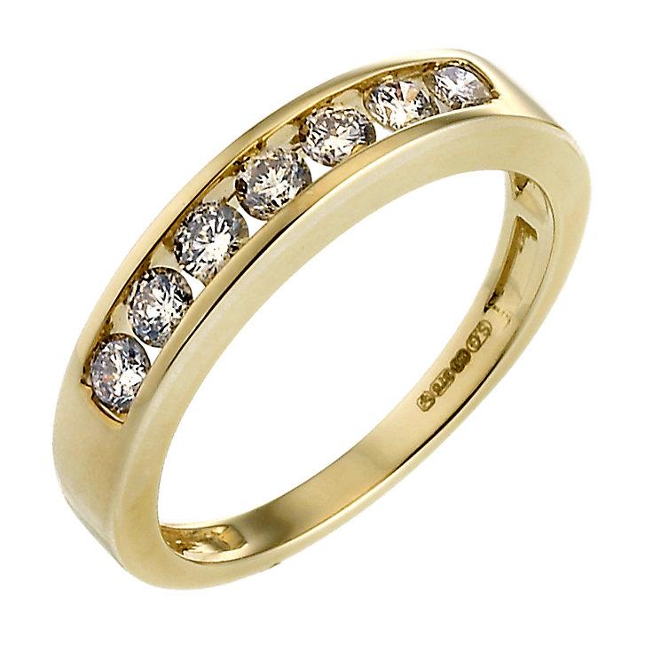 9ct Gold Half Carat Diamond Eternity Ring