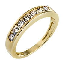 9ct Gold Half Carat Diamond Eternity Ring - Product number 4572467