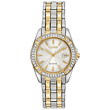 Citizen Eco-Drive Ladies' Two Colour Steel Bracelet Watch - Product number 4574222