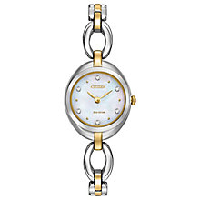 Citizen Eco-Drive Ladies' 2 Colour Steel Bracelet Watch - Product number 4574281