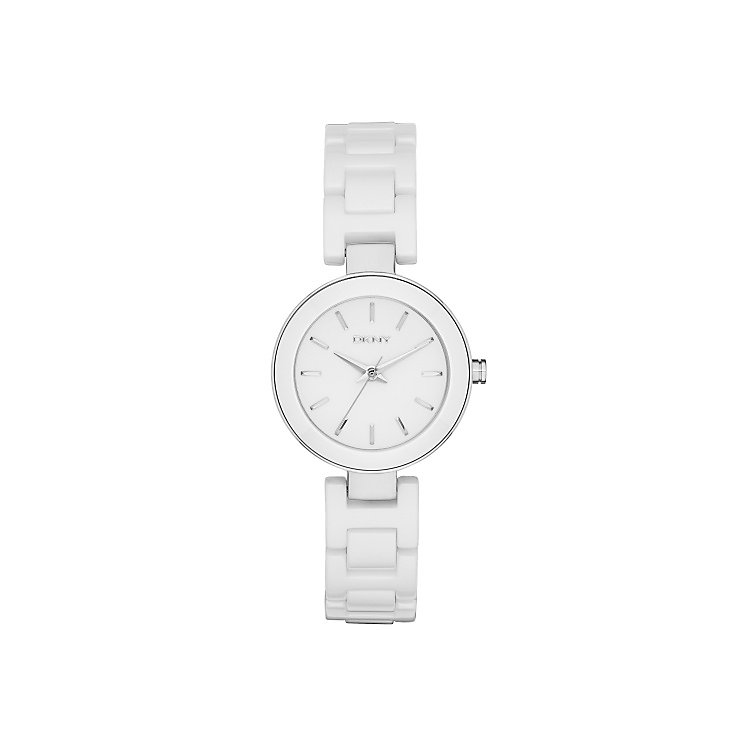 DKNY Ladies' White Dial White Ceramic Bracelet Watch - Product number 4574303