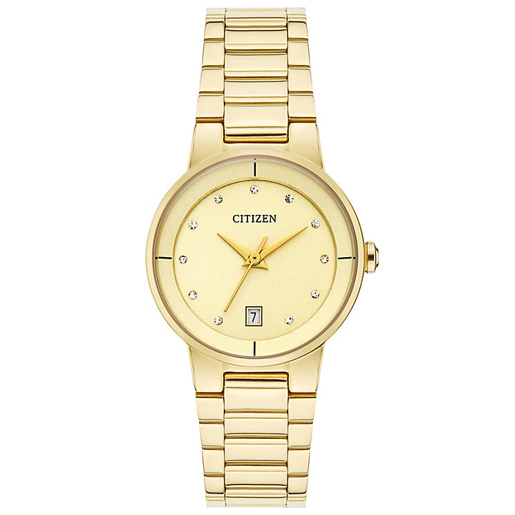 Citizen Ladies' Champagne Dial Gold-Plated Bracelet Watch - Product number 4574338