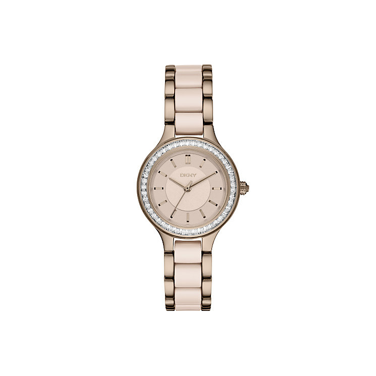 DKNY Ladies' Two Colour Stainless Steel Bracelet Watch - Product number 4574362