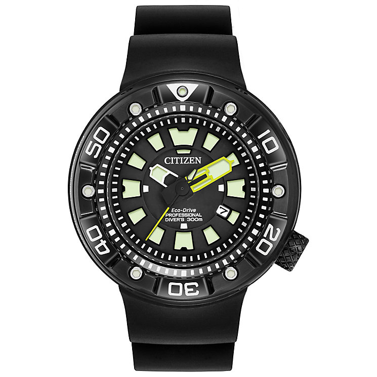 Citizen Eco-Drive Pro Diver's Men's Polyurethane Strap Watch - Product number 4575008