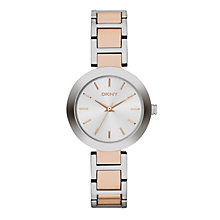 DKNY Stanhope Ladies' Rose Gold-Plated & Steel Watch - Product number 4575067