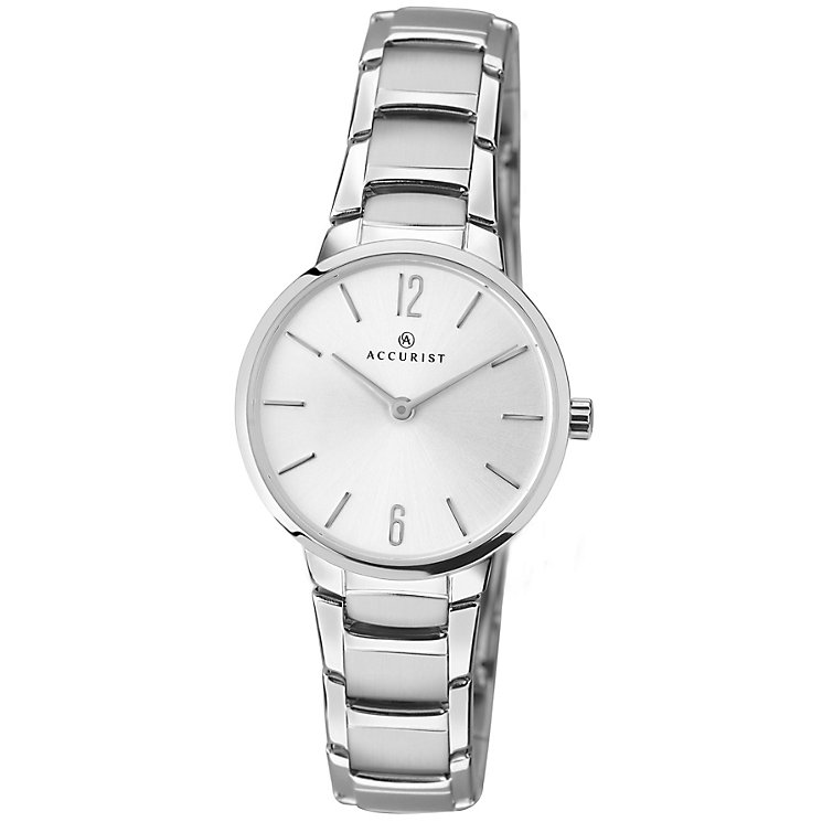 Accurist Ladies' Silver Dial Stainless Steel Bracelet Watch - Product number 4575180