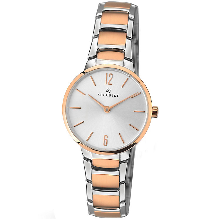 Accurist Ladies' 2 Colour Stainless Steel Bracelet Watch - Product number 4575199