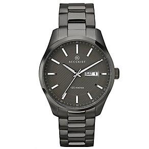 Accurist Men's Gunmetal Grey Stainless Steel Bracelet Watch - Product number 4575202