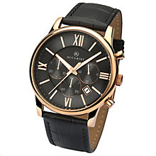 Accurist Men's Chronograph Black Leather Strap Watch - Product number 4575237