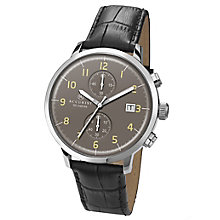 Accurist Men's Chronograph Black Leather Strap Watch - Product number 4575253