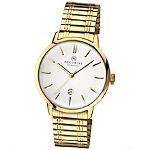Accurist Men's White Dial Gold-Plated Bracelet Watch - Product number 4575261