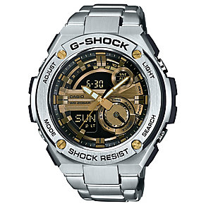 Casio G-shock Men's Stainless Steel Black & Gold Dial Watch - Product number 4575334