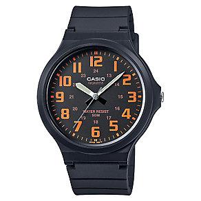Casio Men's Black & Orange Dial Black Resin Strap Watch - Product number 4575431