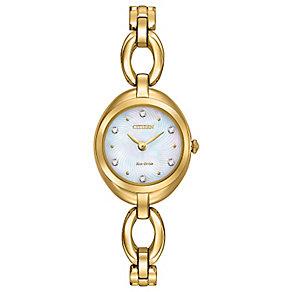 Citizen Eco Drive Ladies' Gold Tone Bracelet Watch - Product number 4577957