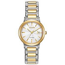 Citizen Eco Drive Ladies' Two Colour Bracelet Watch - Product number 4578058