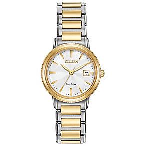 Citizen Eco Drive Ladies' Two Colour Bracelet Watch - Product number 4578058