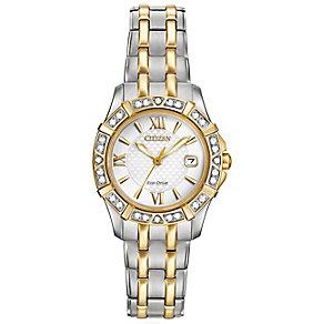 Citizen Eco Drive Ladies' Stone Set Bracelet Watch - Product number 4578082