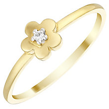9ct Gold Cubic Zirconia Flower Ring Size J - Product number 4578457