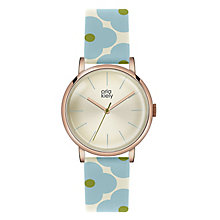 Orla Kiely Ladies' Flower Pattern Leather Strap Watch - Product number 4578716