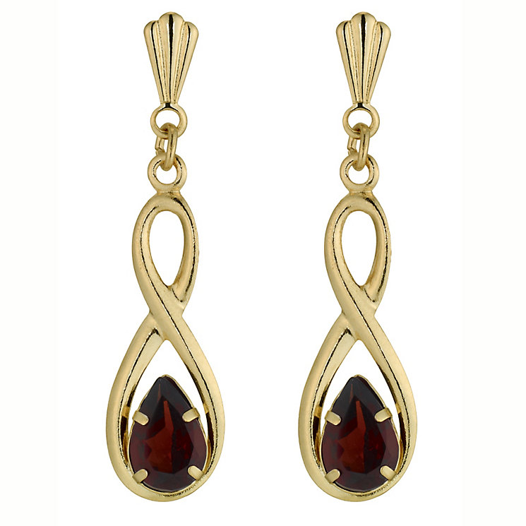 Gold Garnet Earrings - Product number 4579186