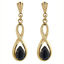 Gold Sapphire Earrings - Product number 4579194