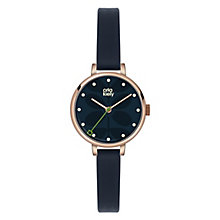 Orla Kiely Ladies' Navy Dial Navy Leather Strap Watch - Product number 4580788