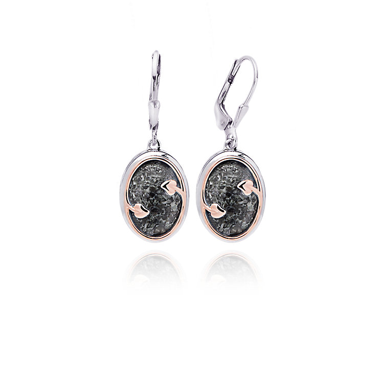 Clogau Gold Silver & 9ct Rose Gold Preseli Drop Earrings - Product number 4580885