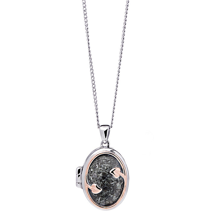 Clogau Gold Silver & 9ct Rose Gold Preseli Bluestone Locket - Product number 4580907