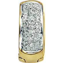 Gold Diamond Set Earring - Product number 4580974