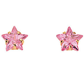 Gold Pink Cubic Zirconia Earrings - Product number 4581393