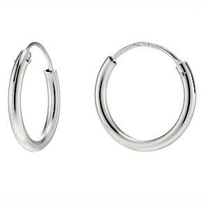Silver Hinged Hoop Earrings - Product number 4584325